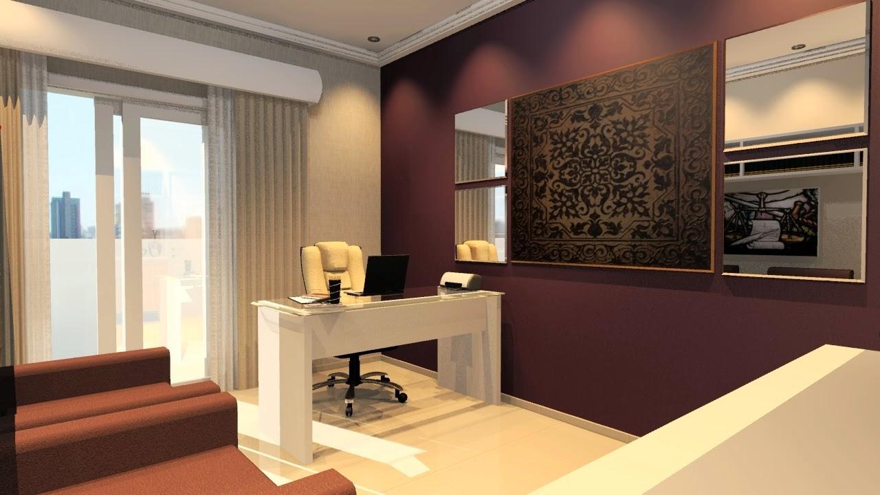 Modelo de Um Home Office Planejado e Sofisticado Bella  ~ Quarto Planejado Com Home Office