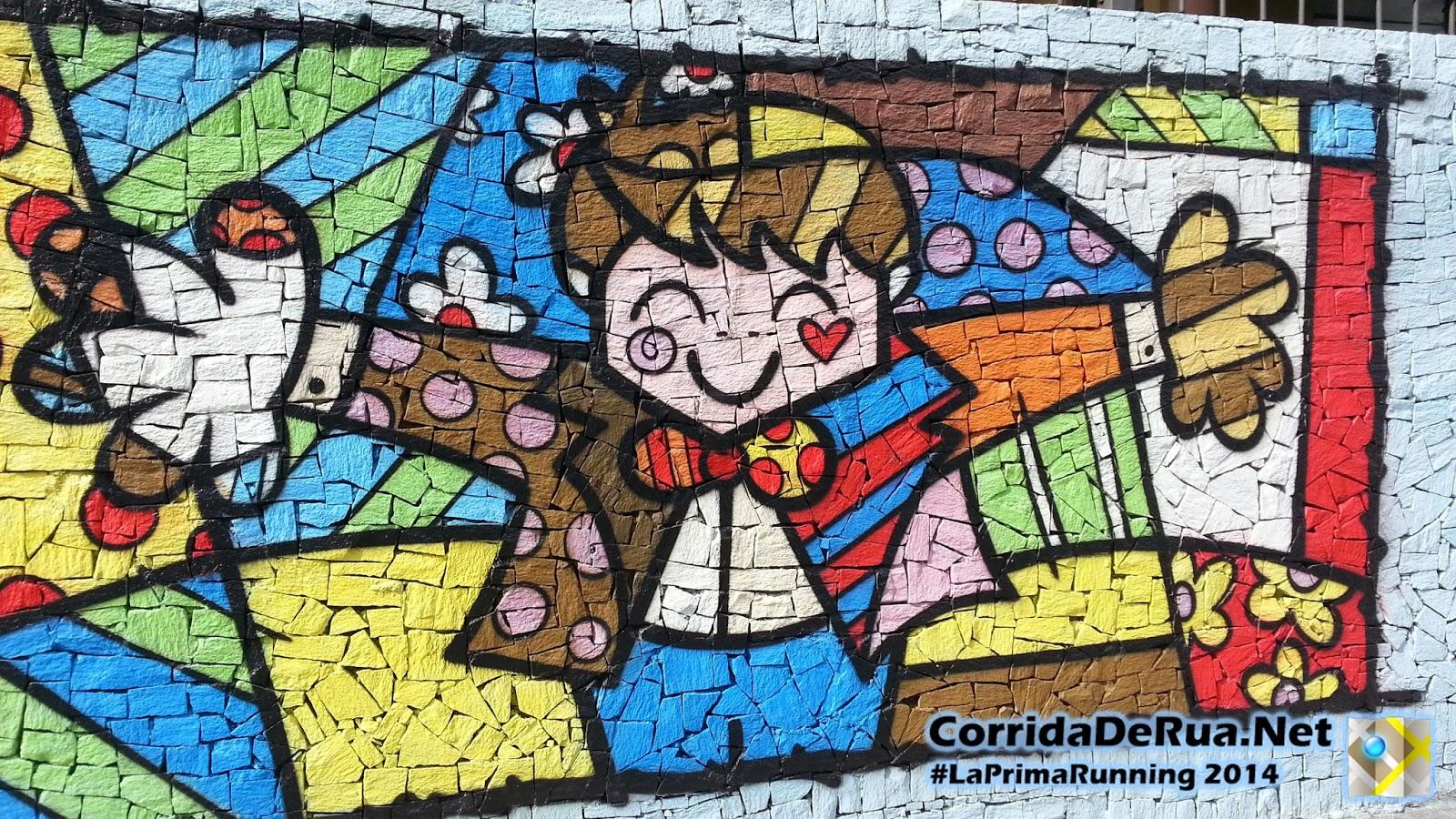 Arte em um muro na Av. Francisco Matarazzo - Corrida De Rua