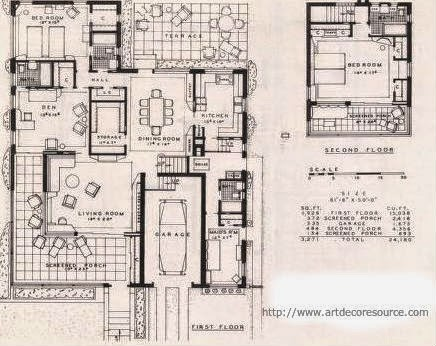 A few more art deco and art moderne house plans art deco for Art deco house design