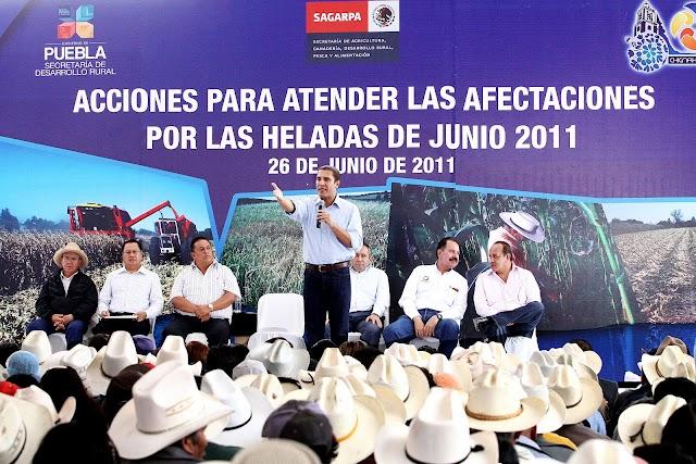 Recursos históricos al campo; el Gobernador en Chignahuapan