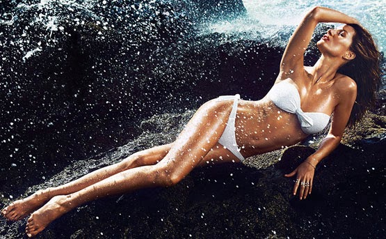 H&M bikini blanco verano 2014 Gisele Bündchen