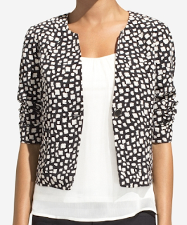 Graphic Black & White Jacket