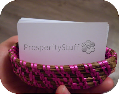 Pine Straw Basket, business card size