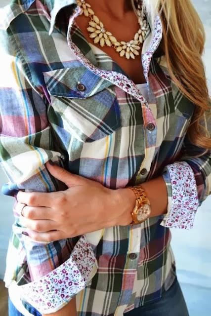 Sonbaharda Kareli Gömlek Modası