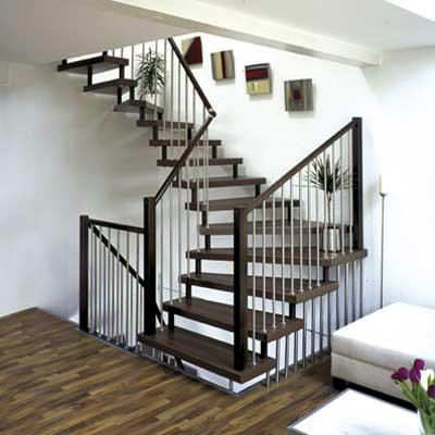 Wooden staircase design elegant interior design for Interior staircase designs