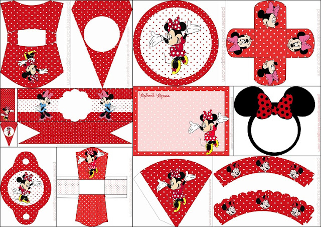 Minnie in Red and Polka Dots Free Printable Party Kit ... - photo #26