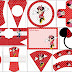 Minnie in Red and Polka Dots Free Printable Party Kit.