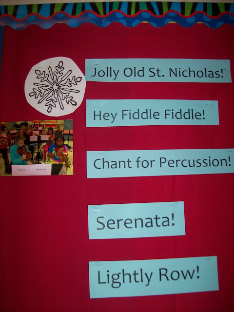 Winter concert bulletin board
