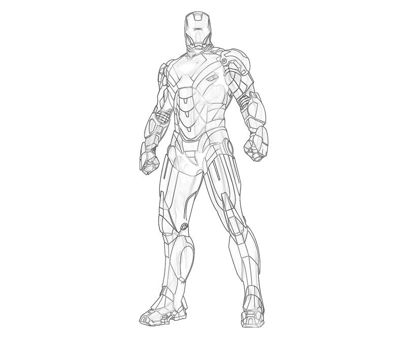 iron patriot coloring pages - iron man mark 42 coloring pages