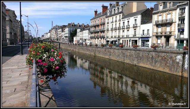 Ville Rennes Quai Emile Zola fleuve Vilaine