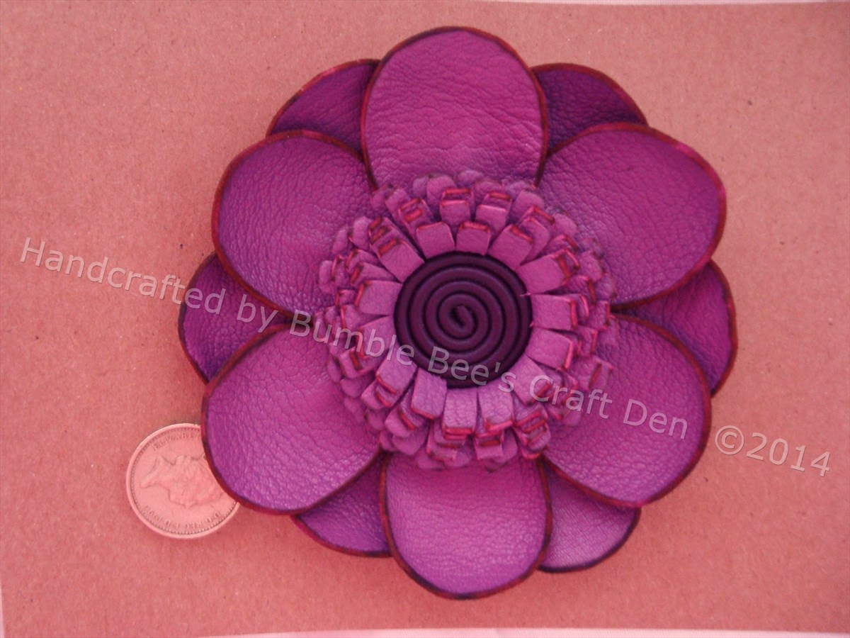 Bumble bee 39 s craft den more leather flowers for Leather flowers for crafts
