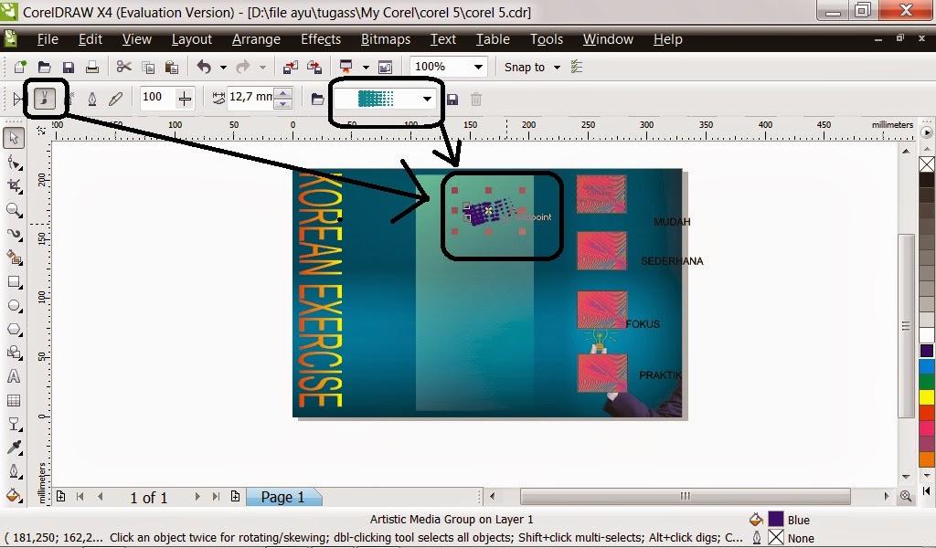 15. Buat hiasan dengan menggunakan Interactive Connector Tool. Seperti