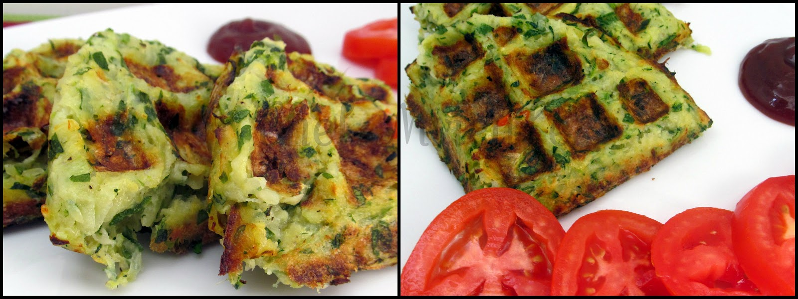 Chef Mireille's Global Creations: Zucchini-Potato Hash Brown Waffles