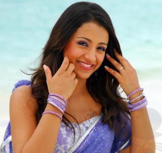 Latest Pretty Adorable TRISHA SOUTH INDIAN ACTRESS SHAREE PICTURES Navel