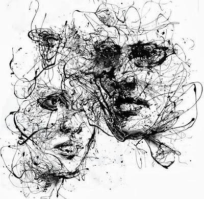 Agnes Cecile. Черно-белые скетчи и акварель