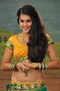 Tapsee Panu in Yellow Blouse and low rise  Spicy Pictures Must See Cuet Spicy