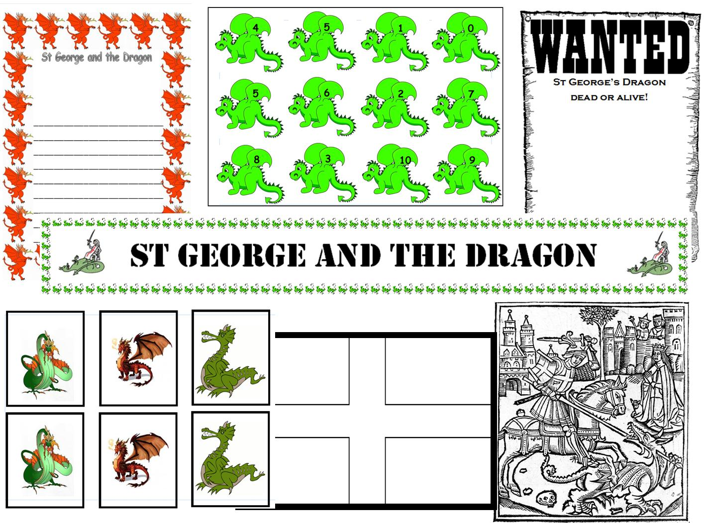 Infant teacher resources teacher resource st george and the dragon ks1 early years infant topic iwb gumiabroncs Gallery
