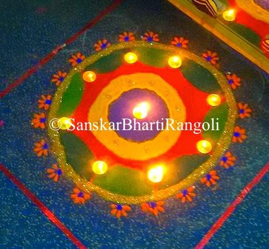 unique rangoli design sanskar bharti rangoli