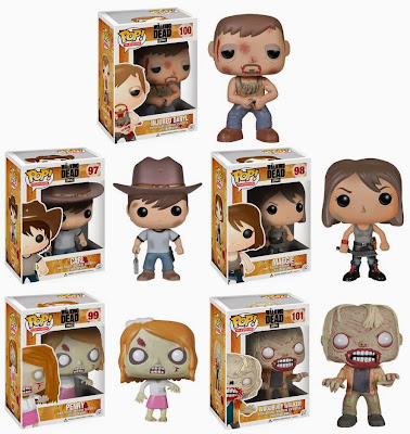 The Walking Dead Pop! Television Wave 4 Vinyl Figures by Funko - Injured Daryl, Carl, Maggie, Penny & Woodbury Walker