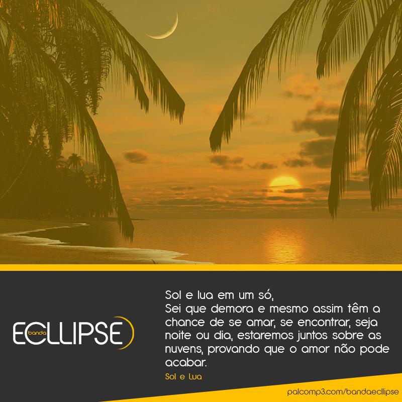 Imagem de divulgação, paisagem do sol se pondo e da lua. Música Sol e Lua da Banda Ecllipse.