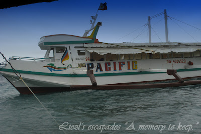 boat going to Samal