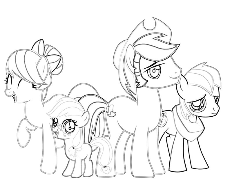 44 My Little Pony Applejack Coloring Page