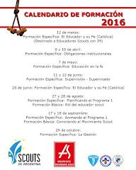 Calendario Zona 4 - 2016