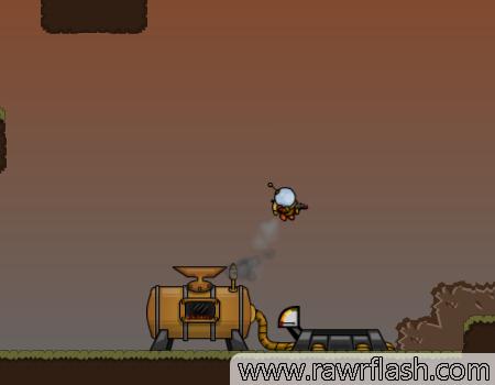Jogos de plataforma, aventura, naves, tiro: Steam Rocket