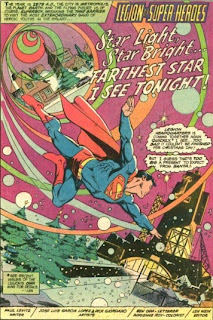 First page of the Legion of Super-Heroes in Star Light, Star Bright... Farthest Star I See Tonight! from DC Super Star Holiday Special