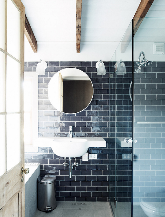 Inspirational Round bathroom mirror Image by Michael Sinclair via The Post Office chalet