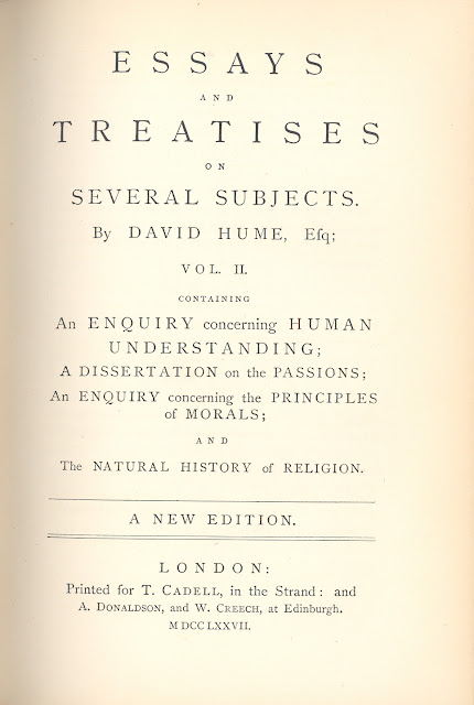 hume essays and treatises on several subjects 1777 Essays and treatises on several subjects in two volumes by david hume esq a new edition volume 1 of 2 essays and treatises on several subjects in two volumes , essays.