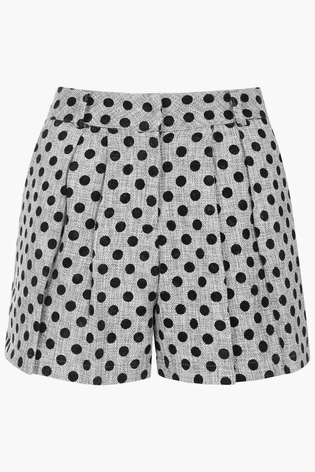 grey spotted shorts, sister jane spotty shorts,
