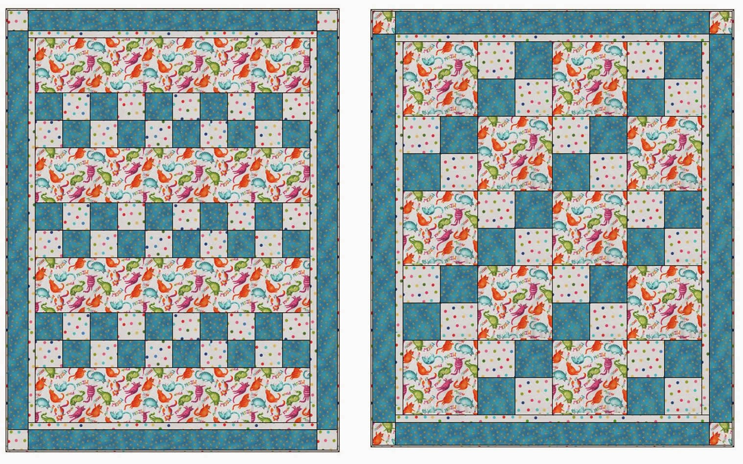 Quilt Patterns With 3 Fabrics : Fabric Fun