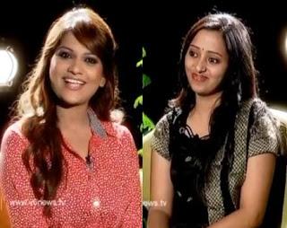 Singer Malavika in Katti Karthika Show