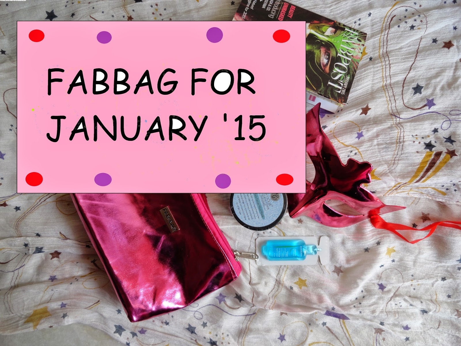 What I got in my January 2015 Fabbag. image