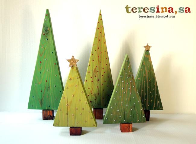 Tutorial arboles de navidad en madera teresina s a - Arboles de navidad en madera ...