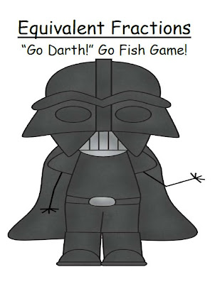 "Fern Smith's Fern Smith's Harder Equivalent Fractions  ""Go Darth!"" A Go Fish Game!"