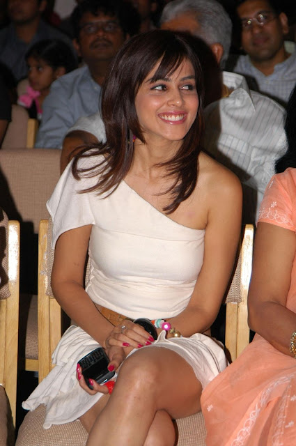 Genelia Hot Milky Thighs in Short Skirt