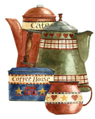 Estamos invitados a tomar el te hermosas laminas de teteras - Laminas para cuadros de cocina ...
