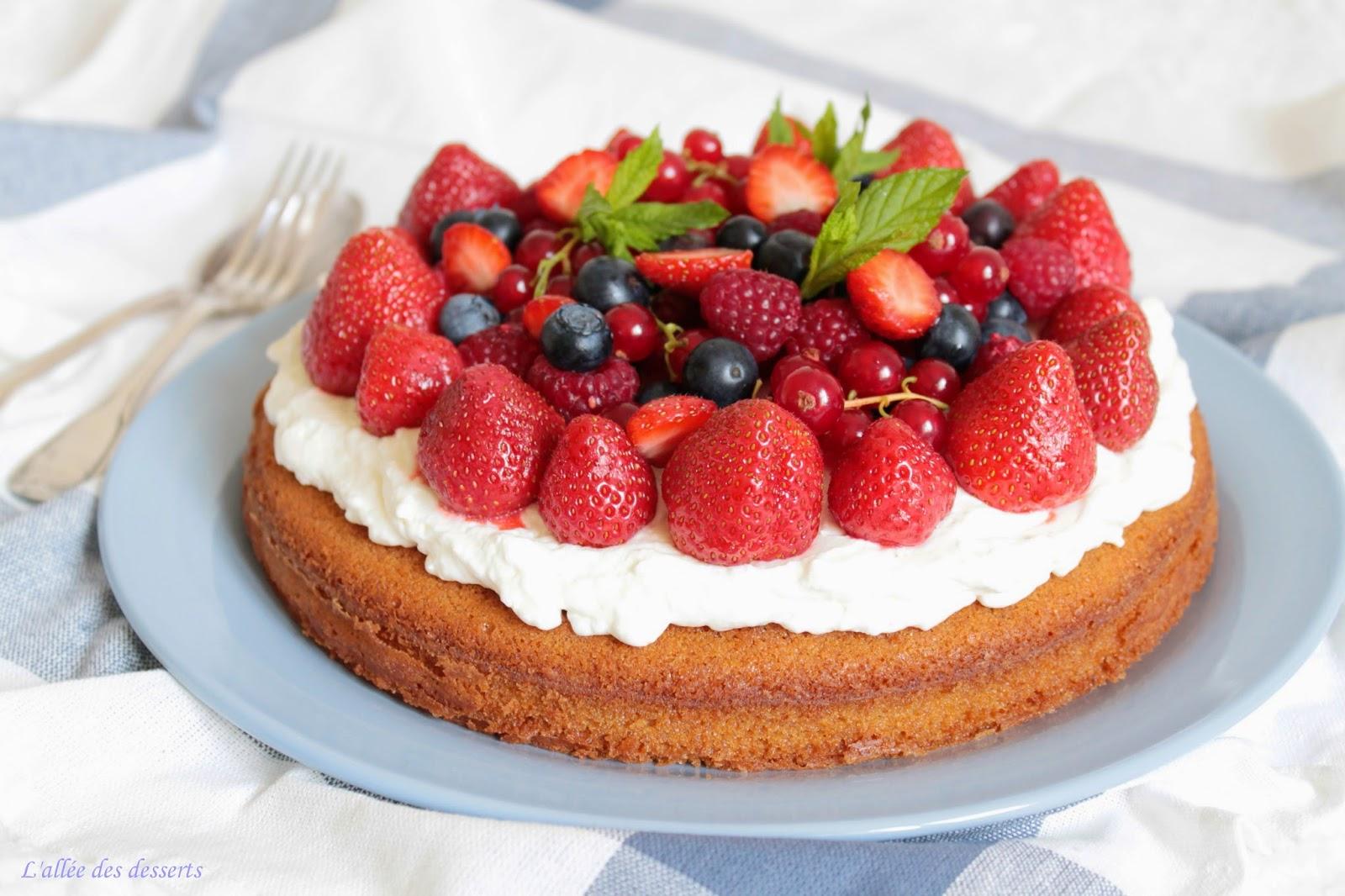 l all 233 e des desserts g 226 teau aux fruits rouges