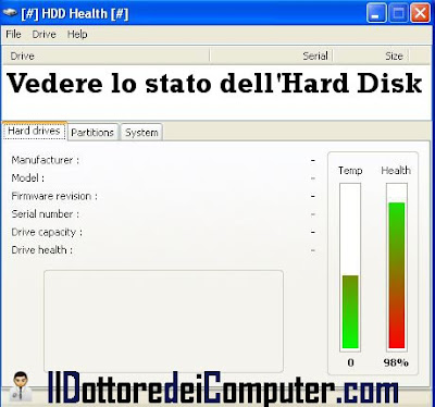 hdd health stato hard disk