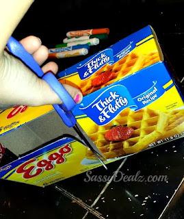 cutting waffle box