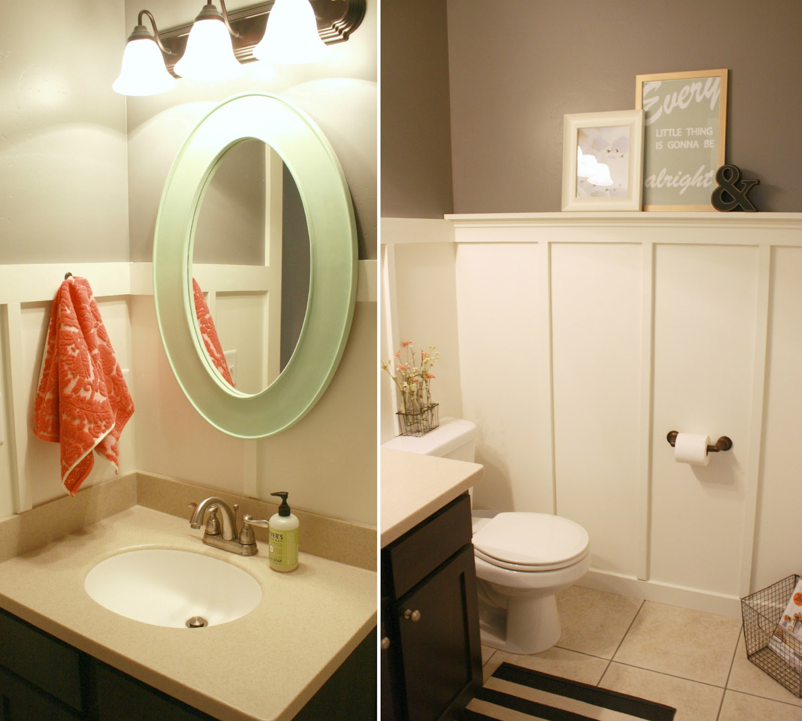 Board and batten bathroom renovation for Bathroom ideas com