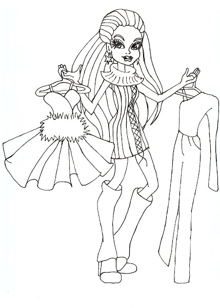Monster high coloring pages baby abbey bominable for Monster high abbey coloring pages