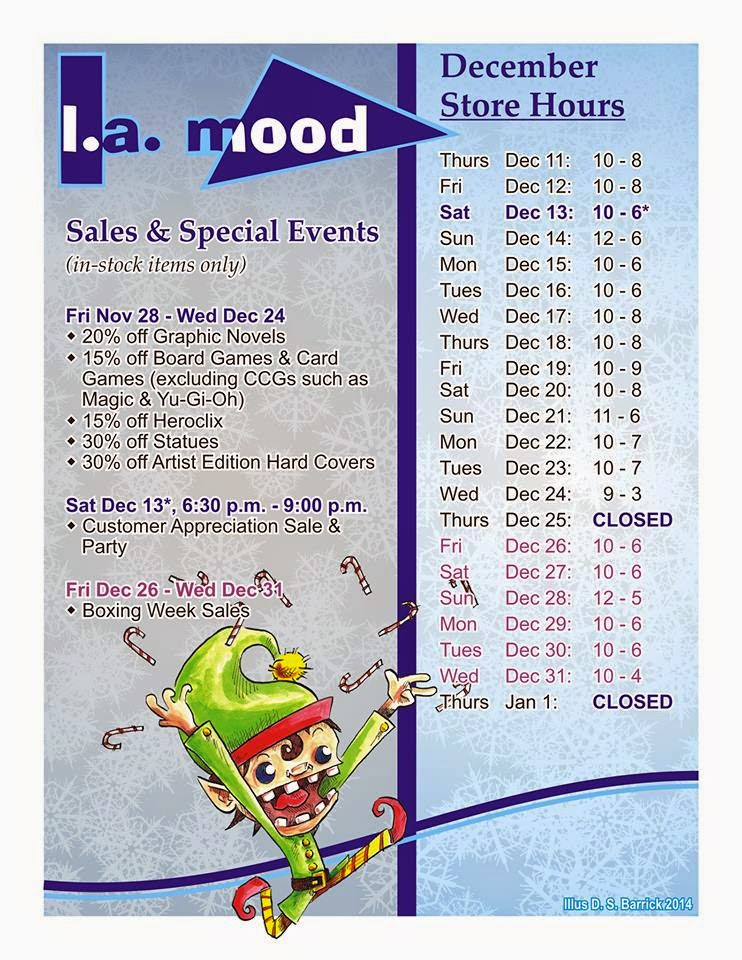 Holiday hours and sales