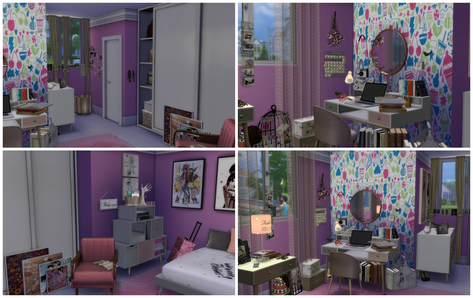 Sims Bedroom Sims 4 Girl Bedroom Dinha