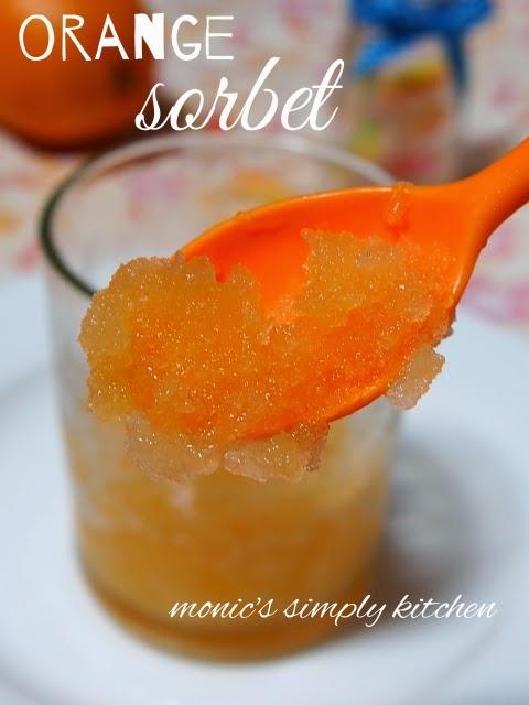 orange sorbet texture
