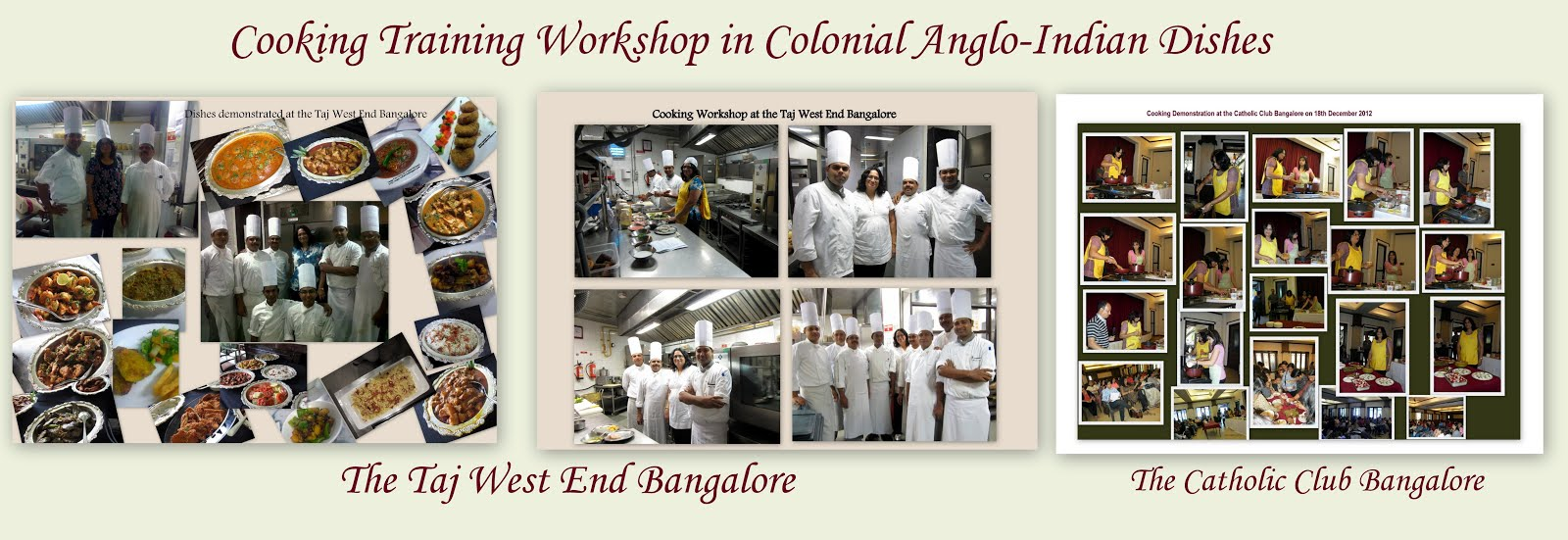 Cooking Training Workshop in Anglo-Indian Cuisine