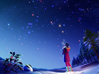 seeing rain stars starslight sky at night anime wallpaper
