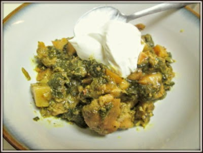 Aloo Palak (Indian Potatoes and Spinach)